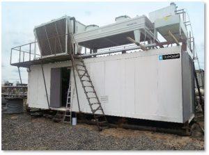Холодильная установка для заморозки и термостабилизации грунта контейнерного типа